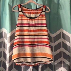 Express women's open back striped tank top